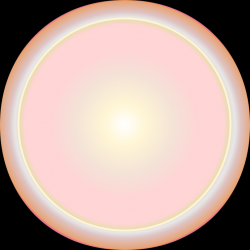 a glowing rose-gold orb